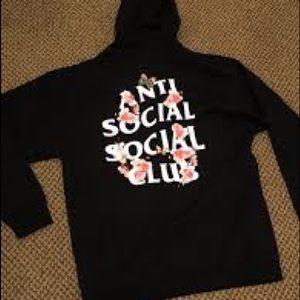 ASSC club zip up cherry blossom hoodie